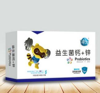 益生菌钙+锌(规格:72克(3克×8条)×3盒)招商