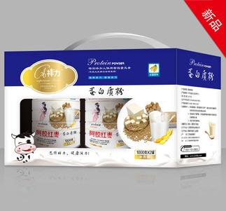 阿胶红枣-蛋白质粉(规格:1000g每罐×2罐)