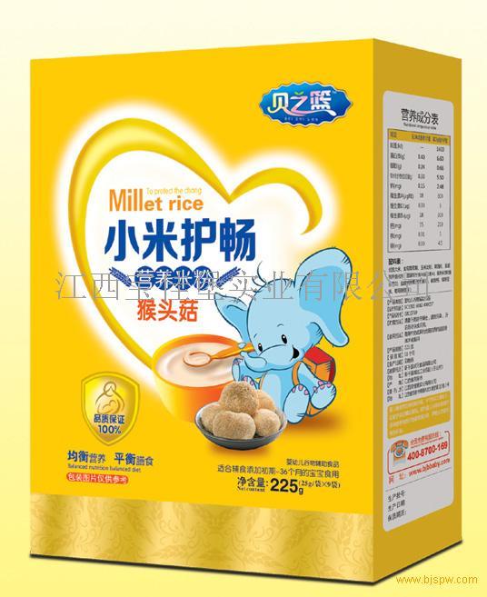 猴头菇-小米护畅营养米粉盒装招商