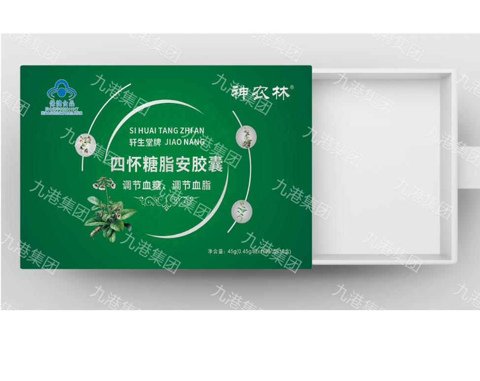 九港集团轩生堂牌四怀糖脂安胶囊(调节血糖、调节血脂)